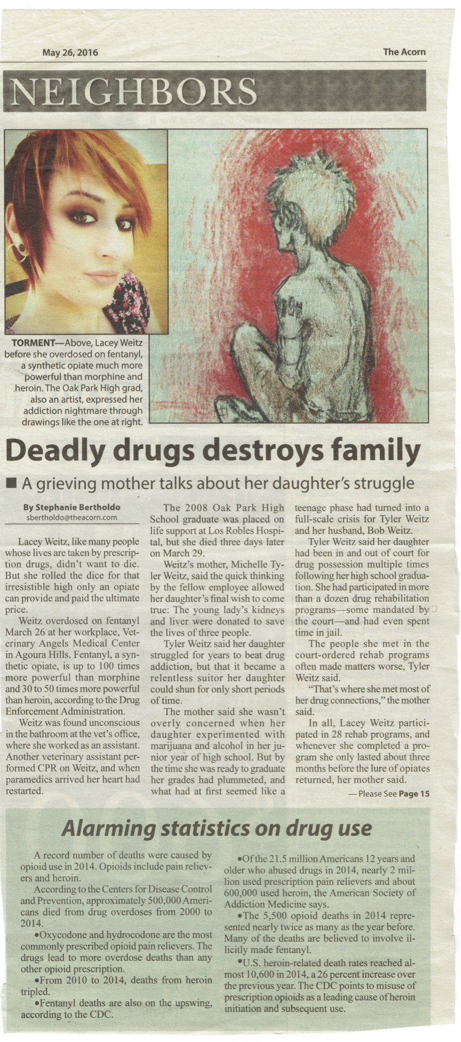 Oak Park Graduate Overdoses- Leaves Art behind